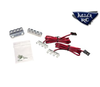 Killer RC LED Alu-Licht-Bar inklusive 2x 4 LEDs rot