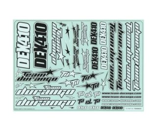 Team Durango TD490035 DEX410 DECAL SHEET