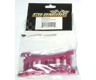 GH Racing 05204 Aluminium Rear Lower Arms für Slash 4x4 rot