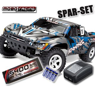 Traxxas 58024 Slash 2WD Short Course +5400mAh LiPo +Lader...