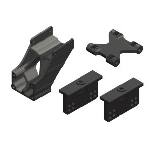 Team Corally C-00180-005 Wing Mount - Adjustable - Composite - 1 Set
