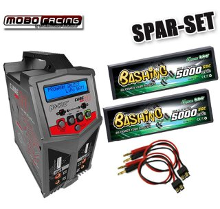 RC Plus Cube Duo 80 Lader + 2x 11,1V 5000mAh 50C 3S Lipo...