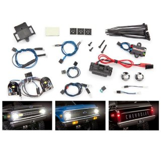 Traxxas 8090 Lichter-Set komplett mit Power Supply für 9111 + 9112 Karo