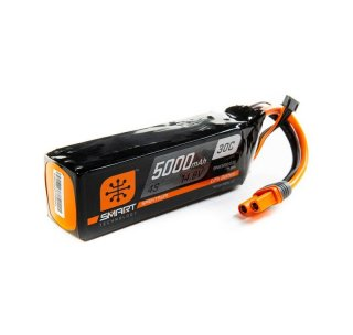 Spektrum SPMX50004S30 14.8V 5000mAh 4S 30C Smart LiPo Battery: IC5